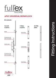 Fullex uPVC Universal Repair Lock Fitting Instructions