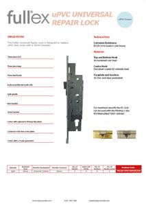 Fullex uPVC Universal Repair Lock Tech Sheet